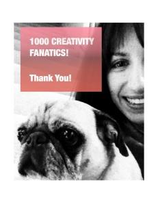 PUGTATO creativity blog reaches 1000 readers