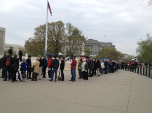 The line to get into supreme court hearing myriad genetics genes