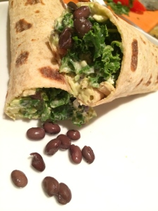 Kale, Black Bean, Avocado Wrap