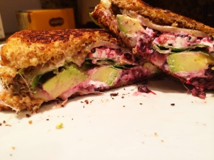 blackberry avocado grilled cheese
