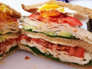 pugtato club sandwich recipes creativity turkey spinach avocado egg